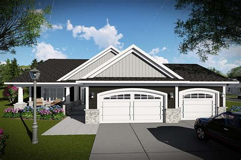 Traditional Style House Plan 75451 with 2 Bed 2 Bath 3
