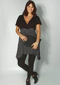 Vetement Pour Femme Ronde : mode grande taille femme t tendance noir et blanc chez ~ Farleysfitness.com Idées de Décoration