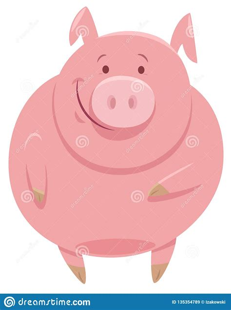 Cute funny smiling happy farm animals set flat cartoon character illustration icon desgin isolated on white background pets farm anumals and pig cow chicken duck horse bunny goat dog. Cute Pig Animal Character Cartoon Illustration Stock ...