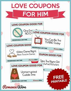 love coupons for him free printable romancewire With love coupons for him template