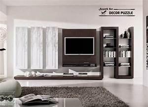 20 cool modern tv wall units for unique living room designs for Tv unit design living room