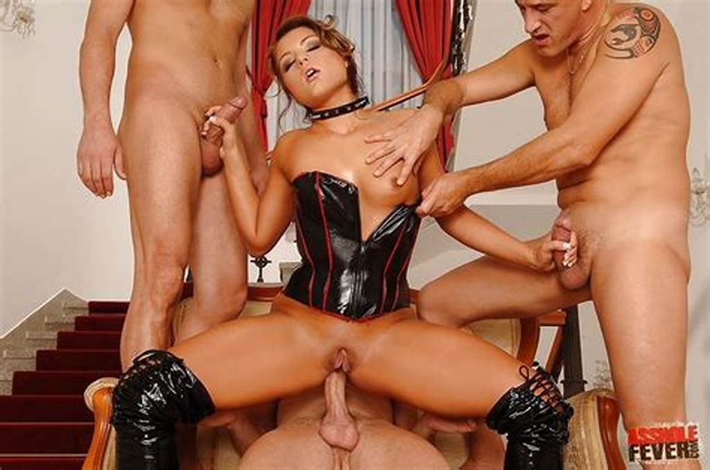 #Hottie #In #Latex #Boots #And #Corset #Fucked #In #Crazy #Anal
