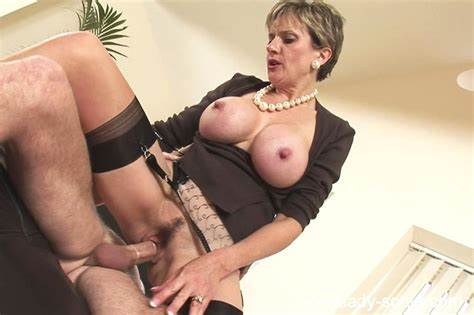 Rough Nippled Granny Anna Drilling Herself With A Prick