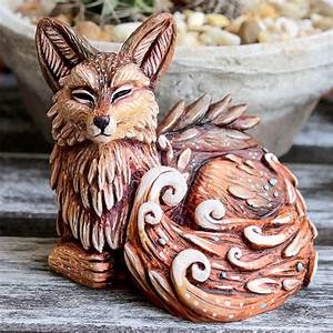 Fern, Fox, Planter, U2013, Verdant, Sculpts