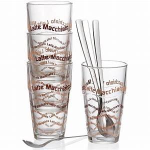 Latte Macchiato Löffel : ritzenhoff breker latte macchiato gl ser set 8 teilig ~ A.2002-acura-tl-radio.info Haus und Dekorationen