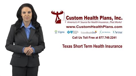 Temporary life insurance is a term used to describe coverage provided by the insurance company between the time your application is submitted and your first premium payment when your policy is. Texas Short Term Health Insurance Plans - Custom Health Plans, Inc. - YouTube