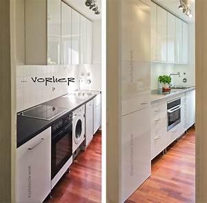 Wir renovieren ihre kuche kueche vorher nachher bilder for Küche mit integrierter waschmaschine