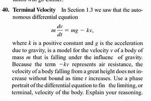 Spice Of Lyfe  Physics Terminal Velocity Formula