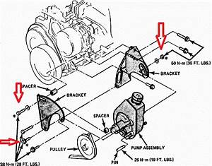 How Do I Put Belt Back On After Replacing Power Steering Pump On 1984 Pontiac 6000 4 Cyl Engine