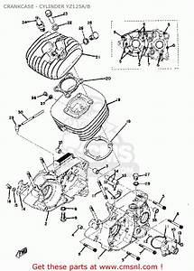 Yamaha Yz125 1975 Usa Crankcase - Cylinder Yz125a  B