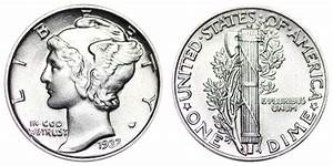 1937 P Mercury Dimes Winged Liberty Silver Dime Value And