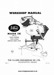 Villiers Mk 3k Workshop Manual