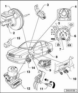 Skoda Workshop Manuals  U0026gt  Octavia Mk1  U0026gt  Brake Systems  U0026gt  Abs  Adr  Tcs  Edl  Esp  U0026gt  Electric