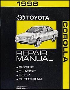 1996 Toyota Corolla Repair Shop Manual Original