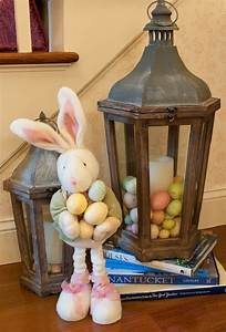 Entry, Decor, Utilizing, A, Lantern, In, Place, Of, An, Easter, Basket, Credit, Lovely, Livings, With, Luann