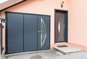 Porte De Garage Gris Anthracite : porte de garage battante remiremont g rardmer ~ Melissatoandfro.com Idées de Décoration