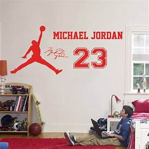 2016 new design michael jordan wall sticker vinyl diy home With vinyl wall lettering michaels
