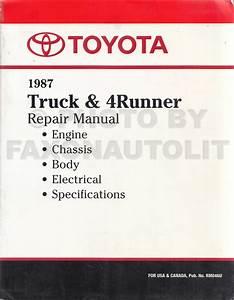 1984 Toyota 4runner Wiring Diagram : 1987 toyota truck 4runner wiring diagram manual original ~ A.2002-acura-tl-radio.info Haus und Dekorationen