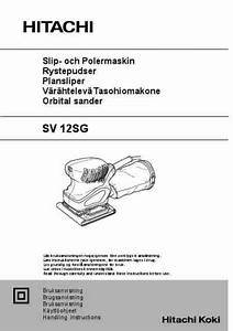 Hitachi Sv 12 Sg Tools Download Manual For Free Now