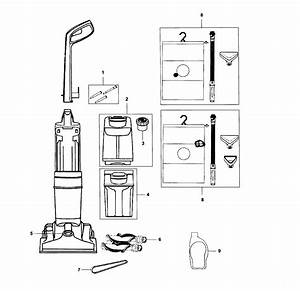 Hoover Model Fh50951 Vacuum  Upright Genuine Parts