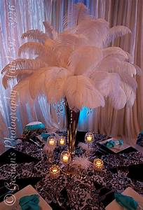 Havana Lights Feather Centerpiece Feather Centerpieces Casino Theme