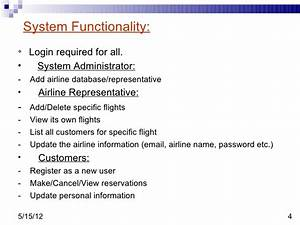 Distributed Airline Reservation System