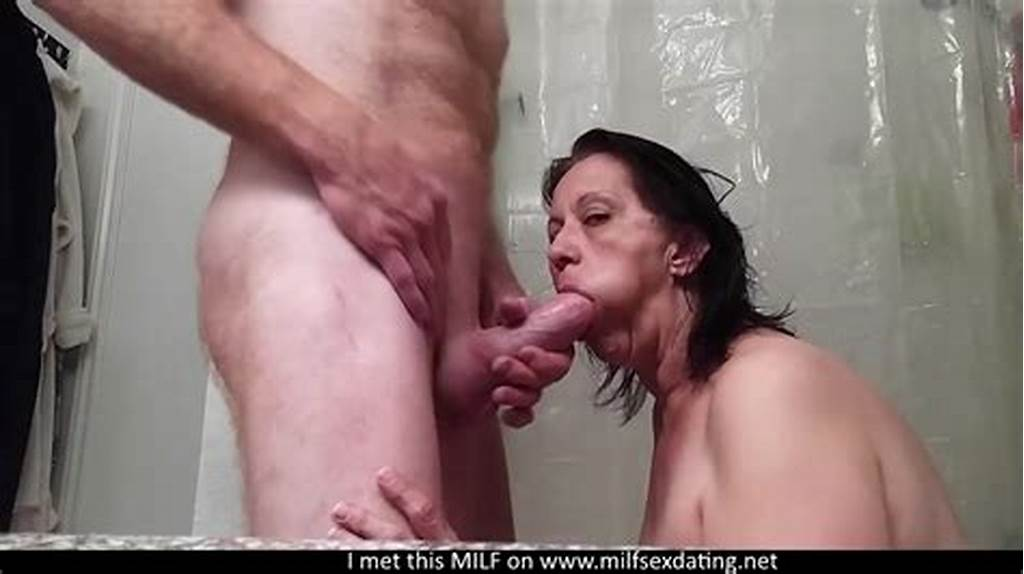 #Homemade #Mature #Blowjob #In #The #Bathroom