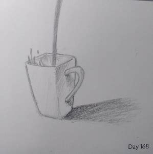 Here presented 53+ coffee mug drawing images for free to download, print or share. Day 167 - Coffee Being Poured into Square Mug | Art drawings sketches simple, Mug drawing ...
