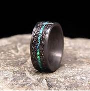 Meteorite Wedding Band by 25 Unique Wedding Bands For Men Stay At Home Mum