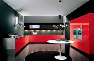 Luxury italian kitchen designs ideas 2015 italian kitchens for Red and black kitchen designs