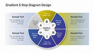 Gradient 6 Step Diagram Design