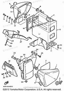 Yamaha Motorcycle 1985 Oem Parts Diagram For Side Cover