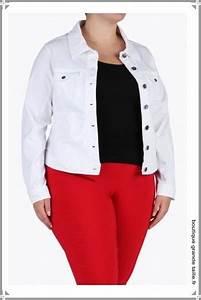 veste en jean blanche grande carrure et forte poitrine With vêtements pour femme ronde