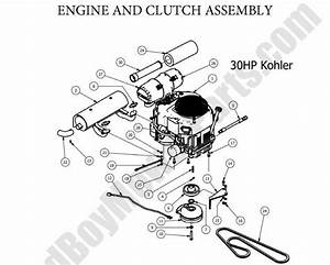 Bad Boy Parts Lookup 2013 Outlaw Engine  U0026 Clutch  30hp Kohler