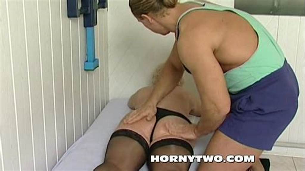 #Horny #Granny #Bitch #Shamelessly #Takes #Gym #Trainer #Cock #In