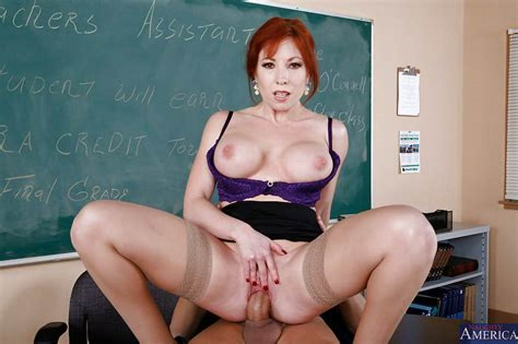 #Lustful #Redhead #Teacher #Gets #Her #Pussy #Licked #And #Boned