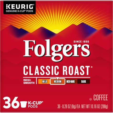 Folgers® has been the best part of wakin' up for more than 150 years. Smith's Food and Drug - Folgers Classic Roast K-Cup Pods, 36 ct