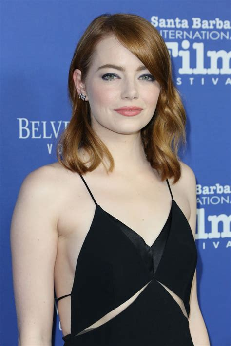 Who can resist a set of blue eyes like hers? EMMA STONE at Outstanding Performers Tribute at 32nd Santa Barbara International Film Festival ...