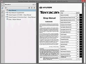 Hyundai Terracan Service Manual    Repair Manual