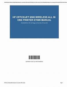 Hp Officejet 6500 Wireless Manual
