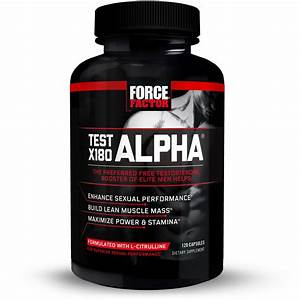 Test X180 Alpha Total Testosterone Booster For Men With Fenugreek Seed And Maca Root To Improve