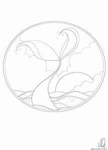 Ausmalbild, Meerjungfrauenflosse