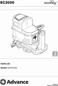 Nilfisk Advance Sc2000 Parts Manual