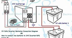 How To Connect Two Batteries To Inverter  24 Volts Ups