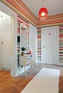 geometrische formen tolle wandgestaltung mit farbe With balkon teppich mit weiße tapete ohne streichen