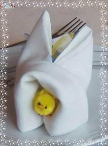 Pliage Serviette Lapin Simple : pliage serviette lapin cache poussin de face photo de pliage de serviettes recettes et ~ Melissatoandfro.com Idées de Décoration