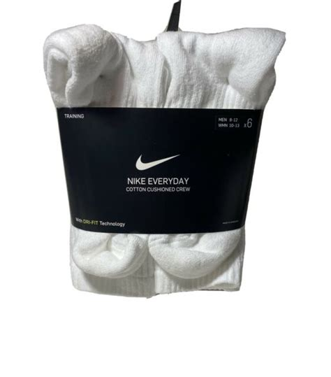 Whatever you're shopping for, we've got it. Nike Men's 6-Pair Pack White Crew Socks Cushioned Cotton Shoe 8-12 | eBay