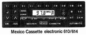 Mexico Cassette Electronic 610  614 Car Radio Becker  Max Ego