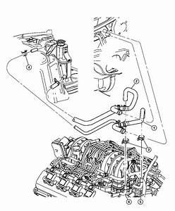 2005 Dodge Magnum Tube  Coolant Inlet  Engine  Hemi
