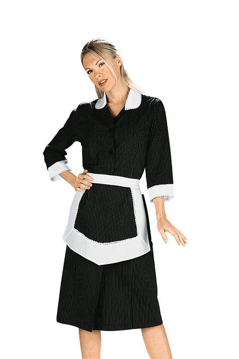tenue de femme de chambre blouse femme de chambre et tablier noir et blanc 100 coton